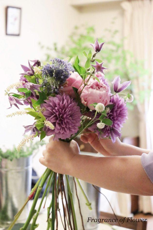 Fragrance of Flower リクエストレッスン ブーケレッスン 寺本真理