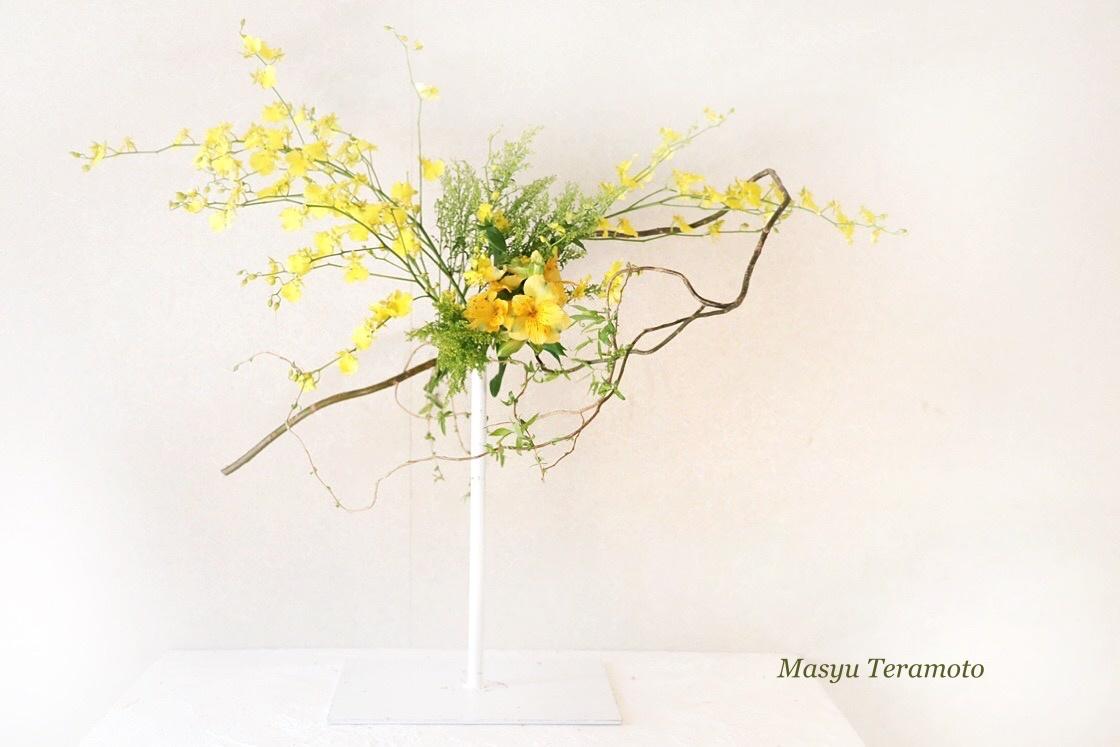 千葉 鎌ケ谷 東京 草月流いけばな 店舗生け込み 単発装花